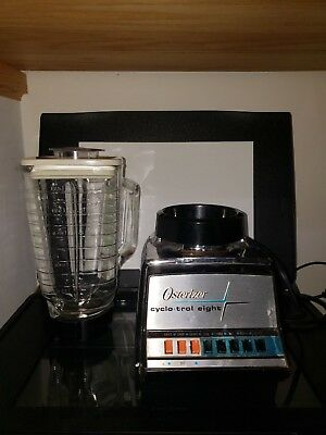 Vintage Oster Osterizer Model 547 Cyclo-Trol Eight 750 w Blender Glass Pitcher