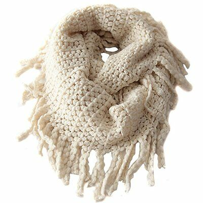 Baby Kids Warmer Fall Winter Knit Wool Soft Infinity Scarf Neck Long Scarf Shawl