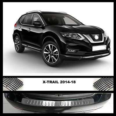 X-TRAIL Rear Bumper Chrome Cover / Protector Scratch Guard Stainless Steel 14-18