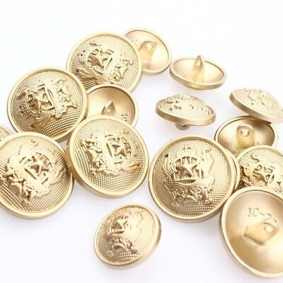 8pc 23mm Matt Gold Metal Blazer Cardigan Knitwear Button 3381