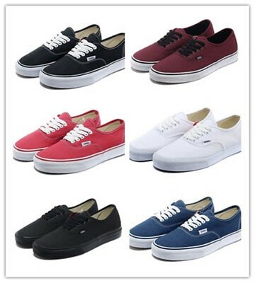 2018 Van Mens Womens classic casual flats shoes canvas shoes Sneakers Size UK