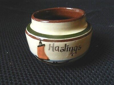 Hastings Sugar Bowl  with Sailing Boat  and motto