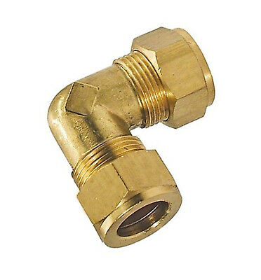 Elbow connector tube x tube, with copper olives, LPG, Gas, Hydraulics    20xx
