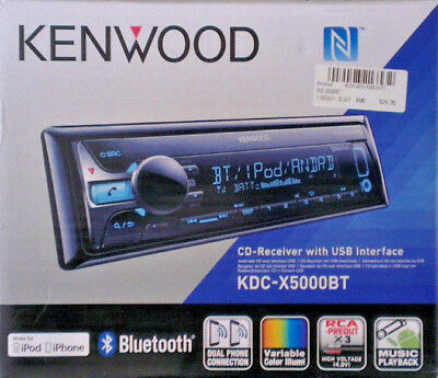 Kenwood KDC-X5000BT Bluetooth AUX USB iPod iPhone Autoradio 6 RCA Android
