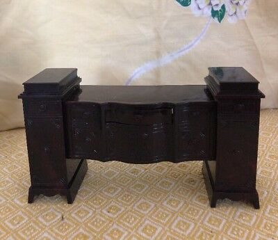 Vtg Doll House Furniture Ideal Young Decorator Dining Room Buffet 1950 (a