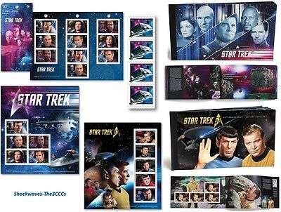2016 & 2017 Canada Post Star Trek 50th.& Year 2  Stamps, Prestige Stamp Booklets
