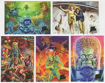 2013 Topps MARS ATTACKS INVASION 5 Card Mars Attacks Masterpieces Chase Set