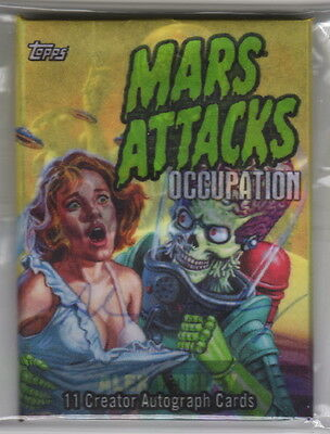 MARS ATTACKS OCCUPATION 11 Creator Autograph Card Pack w Jason Crosby Exclusive!