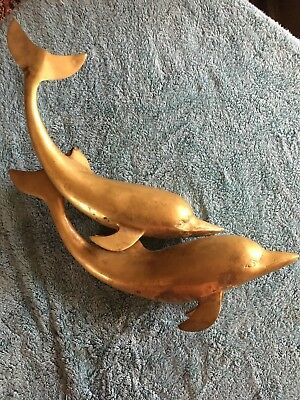 Large Brass Dolphins