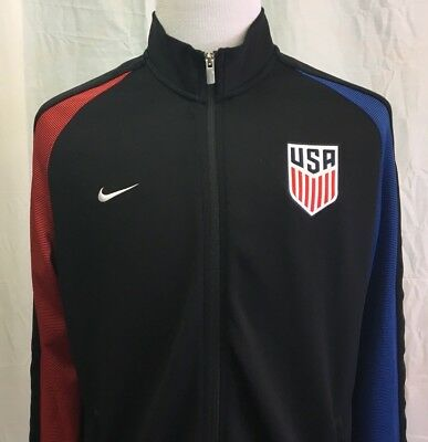 021028e2ab7 Nike USA SOCCER N98 Men s XL Track Jacket RARE National Team WORLD CUP Full  Zip