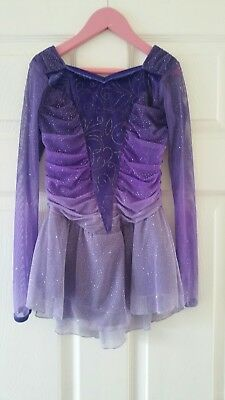 Jerrys Lilac Purple Glitter Ice Skating Dress 7- 8