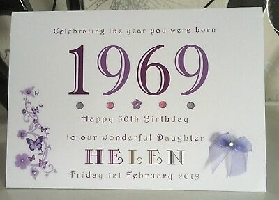 Year You Were Born A5 Card 13 16 18 21 30 40 50 60 70 80 90 100 Any Personalised