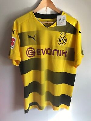 Borussia Dortmund Men's 2017/18 Home Shirt - Large - Yellow -  Reus 11 - New