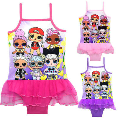 NWT Girls Kids LOL Surprise Doll Swimsuit Swimwear Bathing swimming Bikini K103