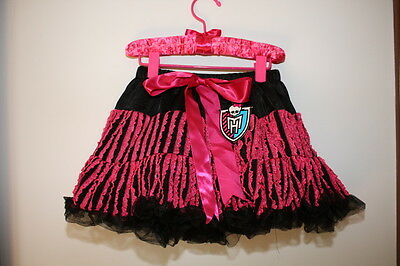Monster High Draculaura Pink  Dress Up Petti Skirt Costume Nwt New