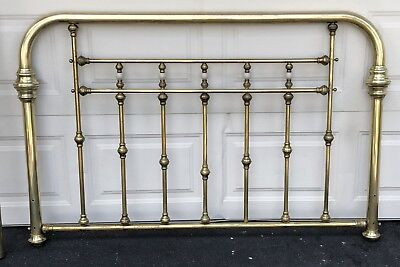 brass headboard queen. Vintage Solid Brass Headboard And Foot Board, Queen Size, Victorian Style