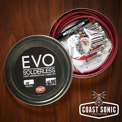 Disaster Area EVO Solderless Cable Kit 10 plugs (red)