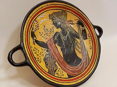 Venus Aphrodite Greek Goddess Rare Hellenic Ancient Art Pottery Tray Kylix