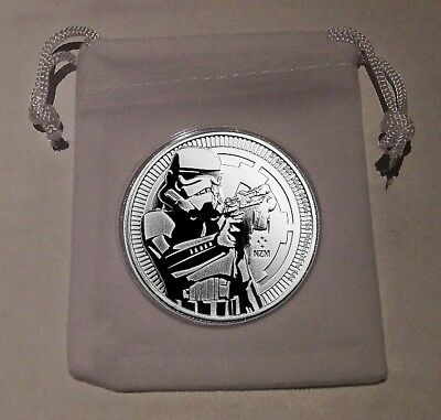2018 Silver Storm Trooper BU Coin with Extras