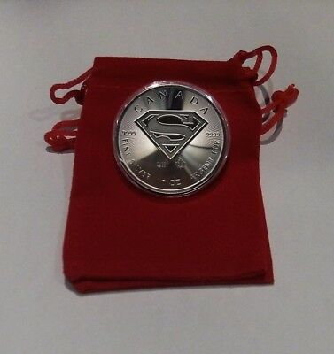 2016 Silver 1 oz. Superman BU Coin with Extras