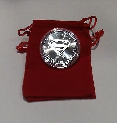 2016 Silver Superman BU Coin with Extras