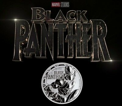 2018 Silver 1 oz. Black Panther BU Coin with Extras