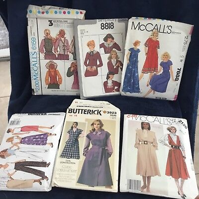 Vintage Dress Making Patterns Lot of 6 McCalls and Butterick