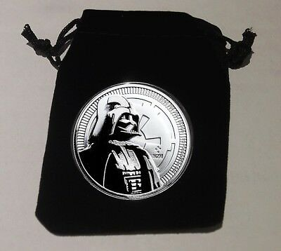 Star Wars 2017 Silver 1 oz. Darth Vader BU Coin with Extras