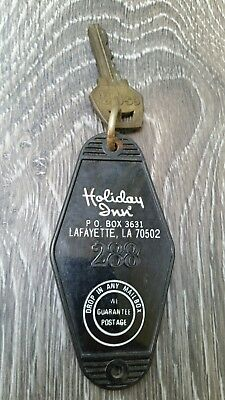 VTG HOLIDAY INN Room ESP Lock Key Fob Lafayette Louisiana Advertising Sign 288