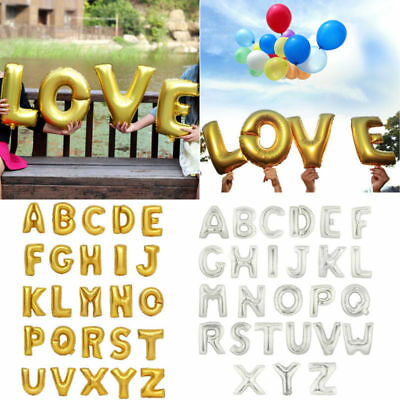 """40"""" Giant Foil Helium Large Letter Balloons A-Z Birthday Wedding Party Celebrate"""