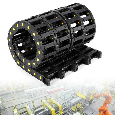 4x Heavy Duty Cable Wire Carrier Plastic Drag Chain Reinforced Nylon PA66 1000mm