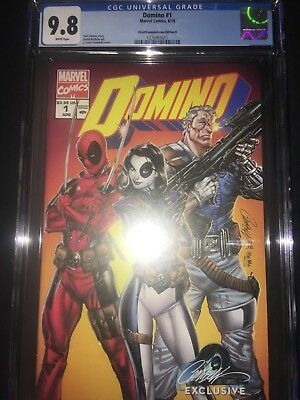Domino #1 CGC 9.8 - J Scott Campbell Variant Edition B Cover - 2018
