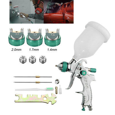 Aluminum 1.4-2.0mm Nozzle 600cc Cup Spray Gun Manual Tool Set from US Store