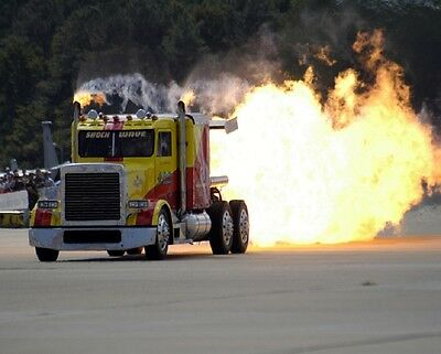 """Jet Truck """"Shock Wave"""" Semi Rig Dragster Drag Racing 8""""x 10"""" Photo 12"""