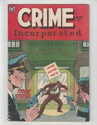 Crime Incorporated #2/Golden Age Fox Features Syndicate Comic Book/1950/VG-FN