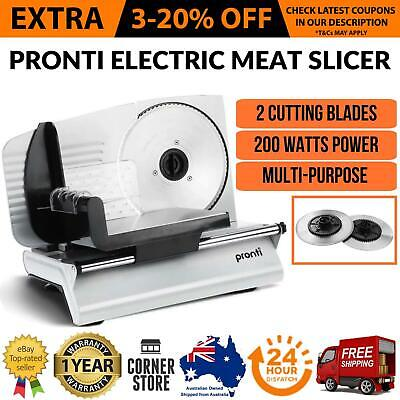 Electric Deli Meat Food Slicer 200W Cheese Processor Bread Vegetable 2 BLADES