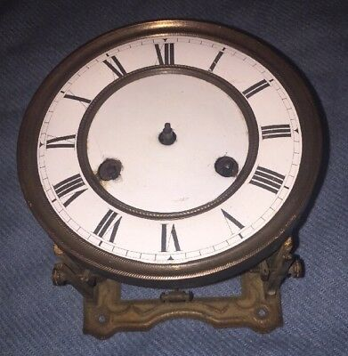 German Vienna Regulator Wall Clock Movement & Dial with Bracket, Parts Only