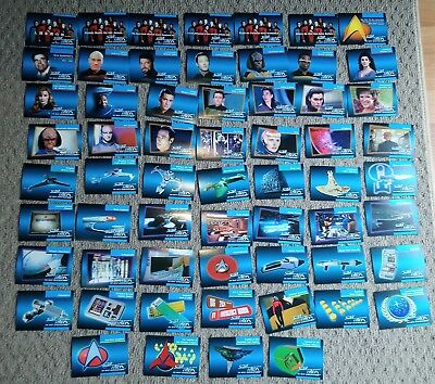 60 STAR TREK The Next Generation  Trading Cards