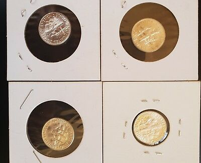 One Dime coins x 4- USA - One Dime - Coin - Uncirculated......