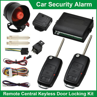 High Quality Car Security Alarm System Immobiliser Remote Central Locking Kit UK