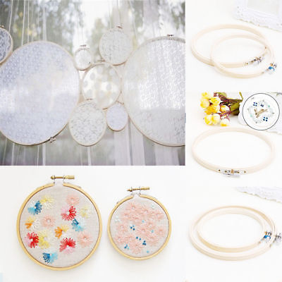 1pc DIY Wooden Embroidery Cross Stitch Ring Hoop Bamboo Tool Sewing Accessories