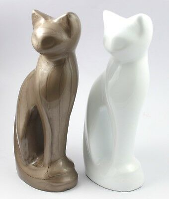 Cat Figurine Urn, Pet Ashes Urn , Funeral Memorial Pet Urn , Ashes Keepsake
