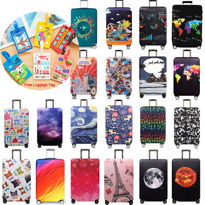 """Elastic Luggage Cover Suitcase Protector Dustproof Cover 18"""" - 32"""" Trolley Case"""