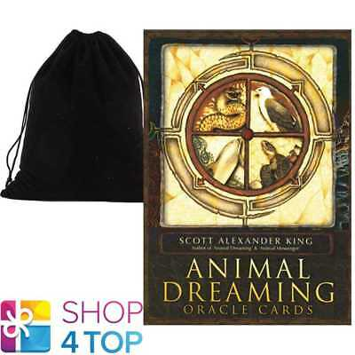 Animal Dreaming Oracle Deck Cards Esoteric Fortune Blue Angel With Velvet Bag