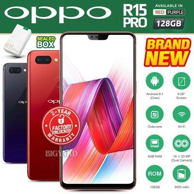 New & Sealed Factory Unlocked OPPO R15 Pro Red Purple Full View Android Phone