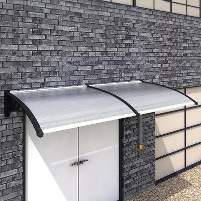 Door Canopy Awning Shelter For Front/Back 120/150/240/300x100cm Porch Outdoor