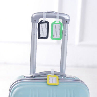 Luggage Tag Travel Suitcase Bag Id Tags Address Label Baggage Card Holder vu7k