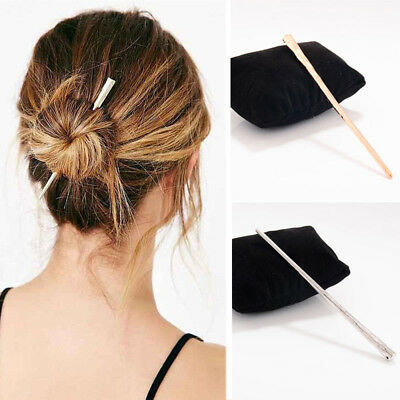 Simple Women Lady Metal Hair Stick Hair Chopsticks Hairpin Pin Accessories New