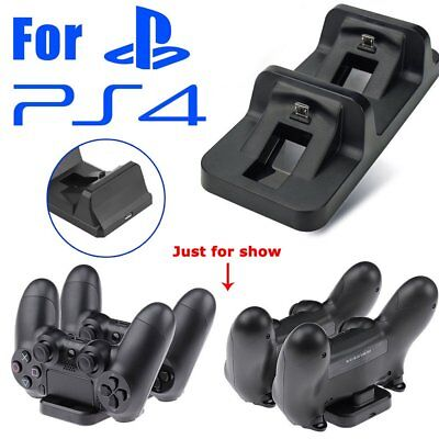 Dual USB Charging Charger Docking Station for Playstation 4 PS4 Controller US KZ
