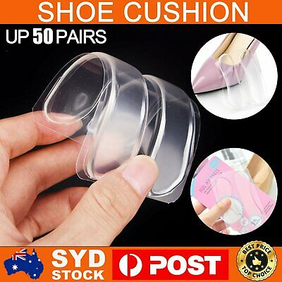 2-50 Pairs Gel Silicone Heel Grip Back Liner Shoe Insole Pad Foot Care Protector